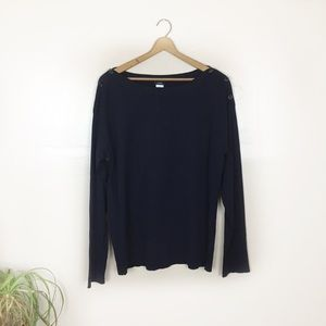 [J Crew] NWT Navy Bateau Button Sweater